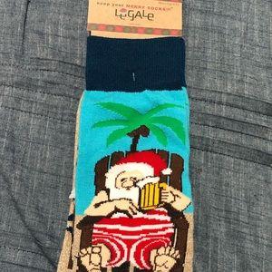 "Santa Clause ""Chilling"" Dress Socks"